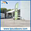 Outdoor Customized Feather Beach Flag and Banners for Advertising
