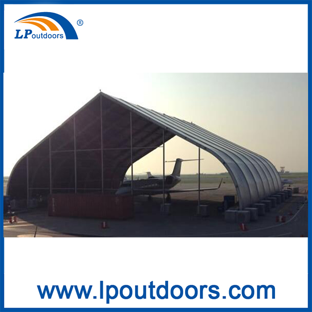 30m Outdoor Aircraft Easy Assembly Hangar Curve Tent For sale