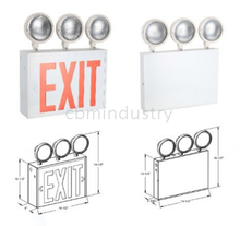 NEW YORK COMBINATION LED EMERGENCY LIGHT - THREE LAMP - BATTERY