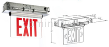 RECESSED LED EDGE LIT EXIT SIGN BATTERY BACK-UP Emergency lamp
