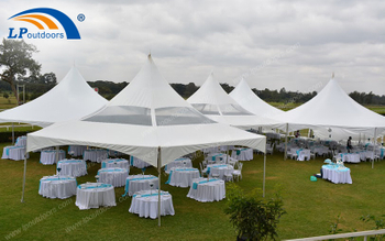 White Roof Pagoda Sun Shade Alpine Tent Is First Choice Of Party Place In Kenyan