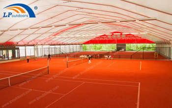 40M Polygon Large Aluminum Outdoor Sports Tennis Tent Make The Sports Keep Hot In Winter