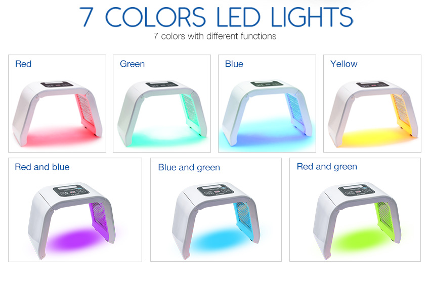 led light therapy machine 7 colors