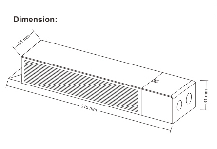 LED Emergency constant power for led downlight/ceilling light/Panel