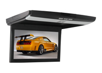 10.1 Inch Super Slim HD LED Flip Down Monitor with USB/TF/IR/FM/HDMI