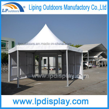 Dia6m High Quality Hexagon ABS Glass Pagoda Tent For Events