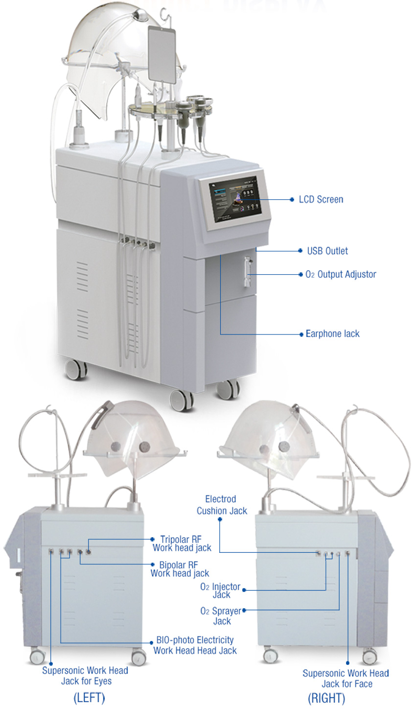 oxygen facial machine display