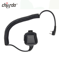 Chierda D64 OEM IP55 Waterproof Walkie Talkie Speaker Microphone Headset for Chierda Kenwood ,Motorola, ICOM ,YAESU