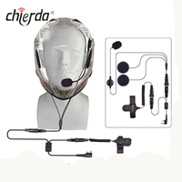 Chierda CD-100R Helmet-Conduction Type Noise Cancelling Headset for Transceiver And Walkie Talkie