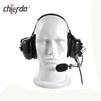 Chierda CD-600R Helmet-Conduction Type Noise Cancelling Headset for Transceiver And Walkie Talkie