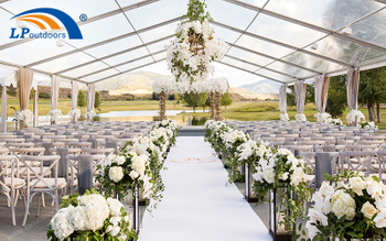 Aluminum Clear Top Outdoor Wedding Tent Gives You Unique Memories