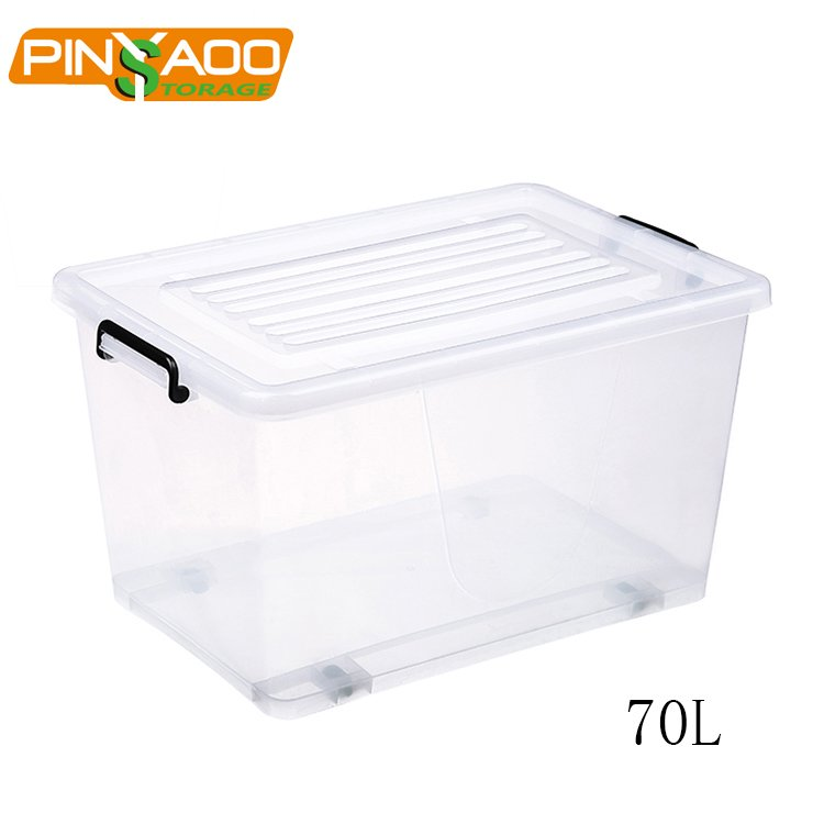 70L Eco friendly New Design Widely Use Large Clear Plastic Storage