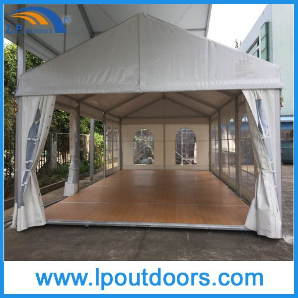 Outdoor Aluminum Frame Wood Flooring Party Marquee Event Tent