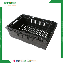 Plastic Vegetable Fruits Storage Stackable Folding Crate