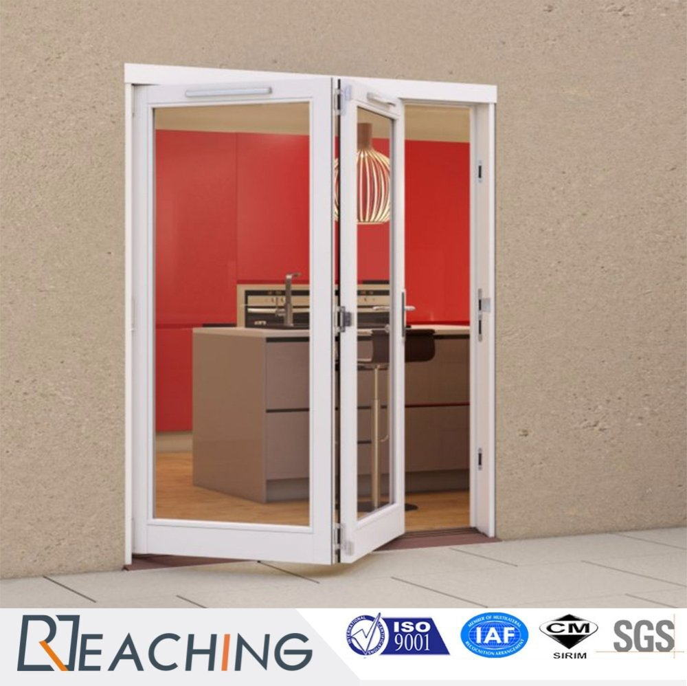 Double Pvc Folding Single Tempered Glass Door Manufacturer From