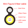 Mini figure-8 menssenger indoor Fiber cables 3.0*6.0mm Low Smoke Zero Halogen Aramid Yarn 4-12 cable óptico para