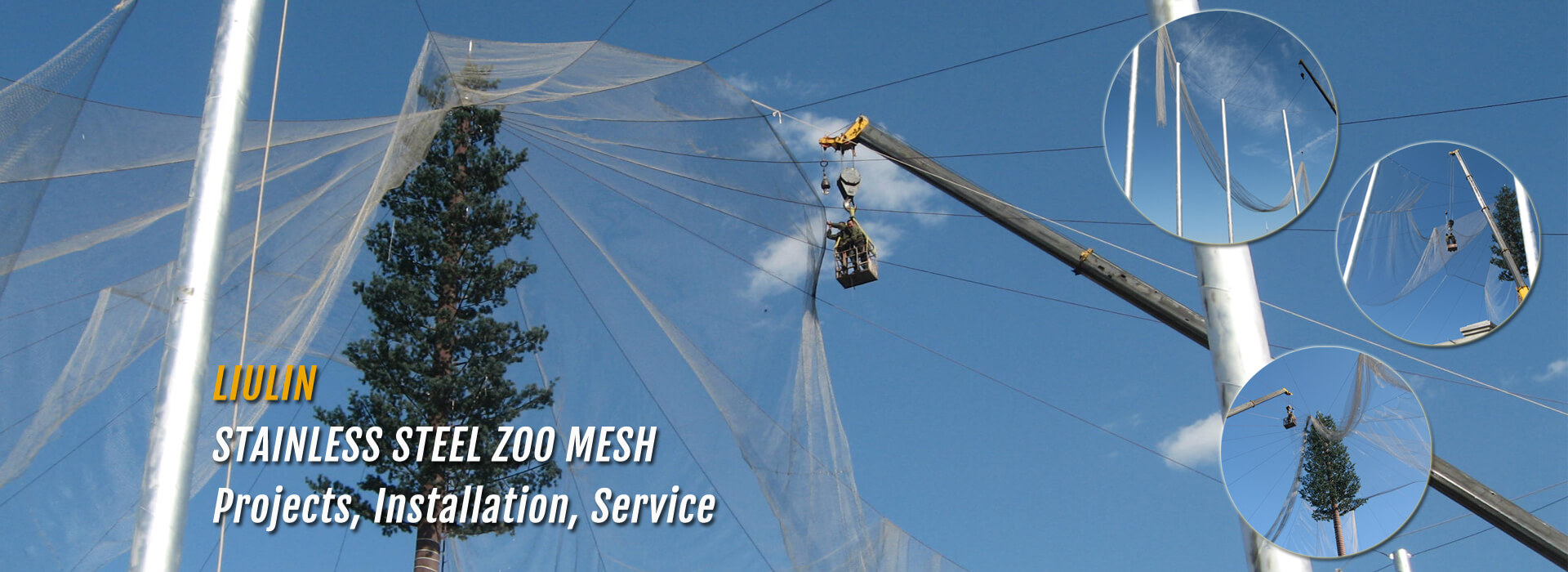Zoo mesh, zoo netting, zoo enclosure mesh, bird netting, aviary ...