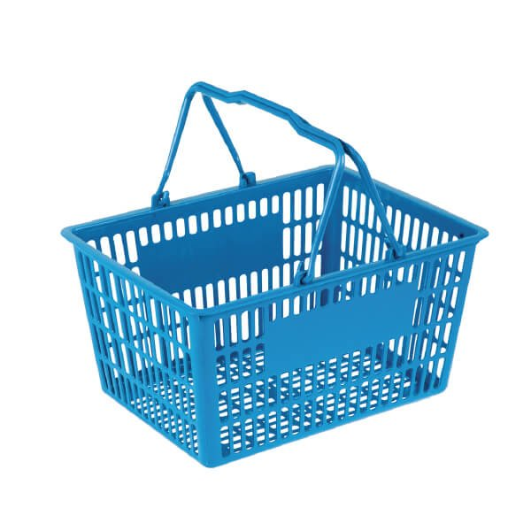 32L Plastic Hand Shopping Basket