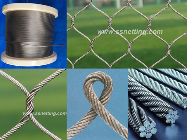 Stainless steel wire rope woven mesh - stainless steel zoo mesh