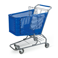 120L Plastic Shopping Trolley