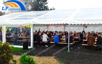 Customized Outdoor Transparent PVC Cover Aluminum Tent For Banquet Helps You Organize A Successful Event